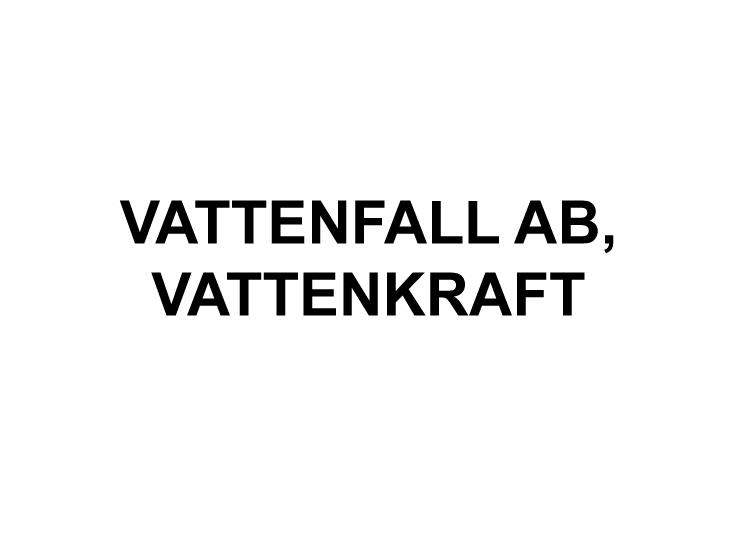 Vattenfall AB, Vattenkraft