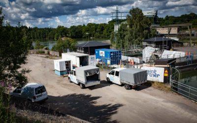 Keramspackling av ledbana till utskovslucka i Vargön