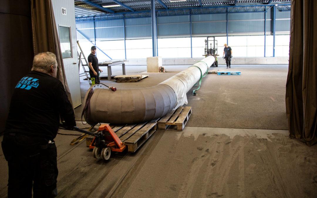 Blästring och säker logistik på anläggningen